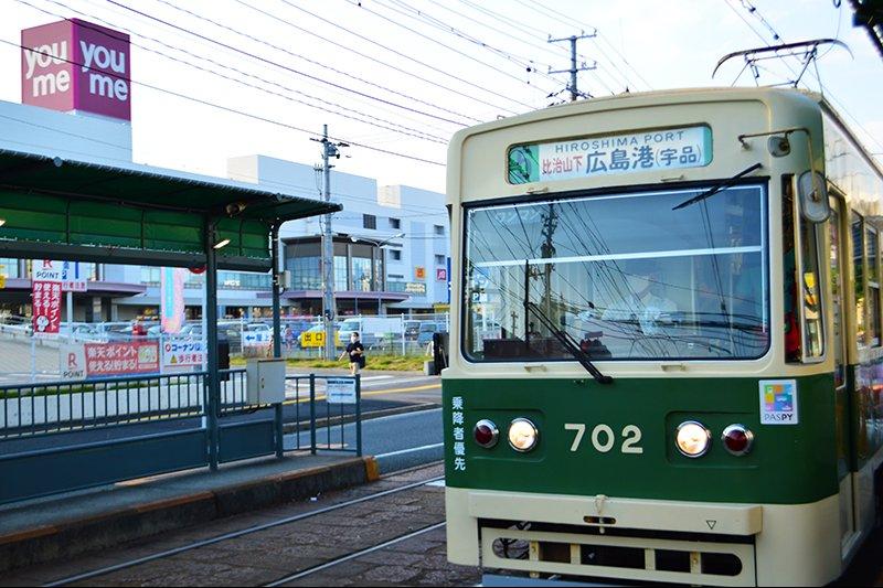 広島電鉄の電車の走る街の様子
